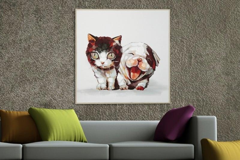 tlačené obrazy na plátne