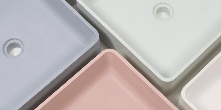 Jednoduché betónové umývadlá