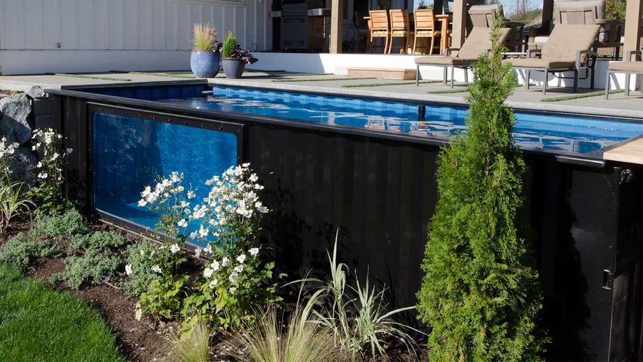 bazény z prepravných kontajnerov