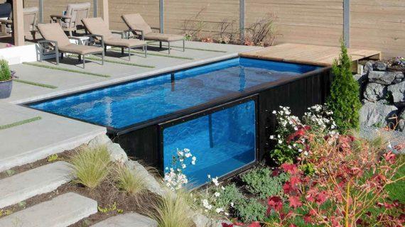 Bazén vyrobený z kontajneru