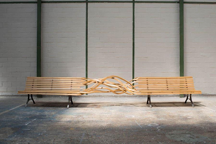 drevené lavičky