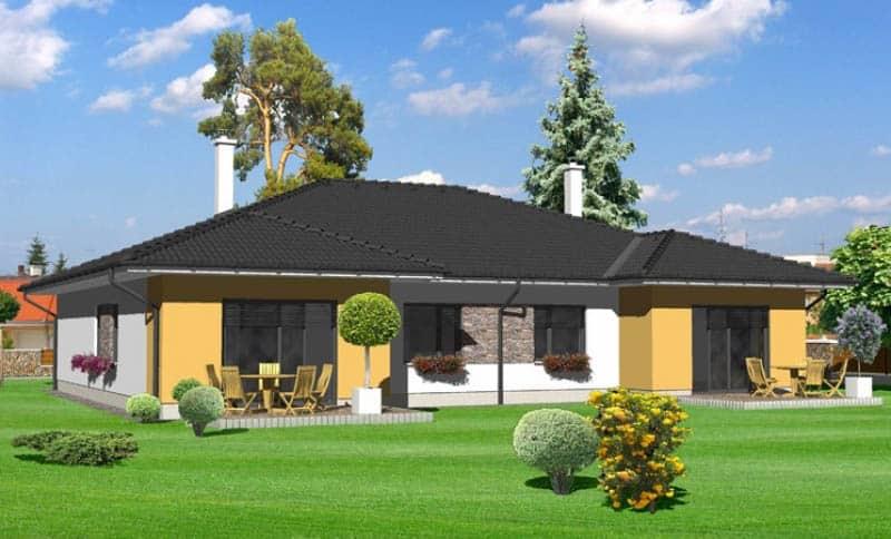 projekt nízkoenergetického rodinného domu
