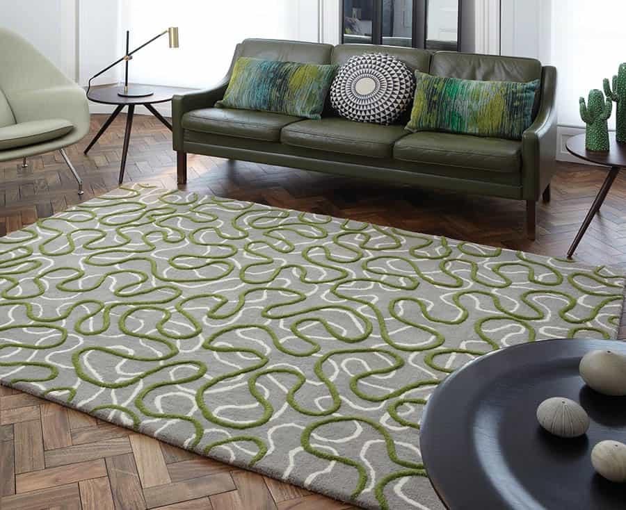 Koberec SQUIGGLE 120x170 cm - zelená