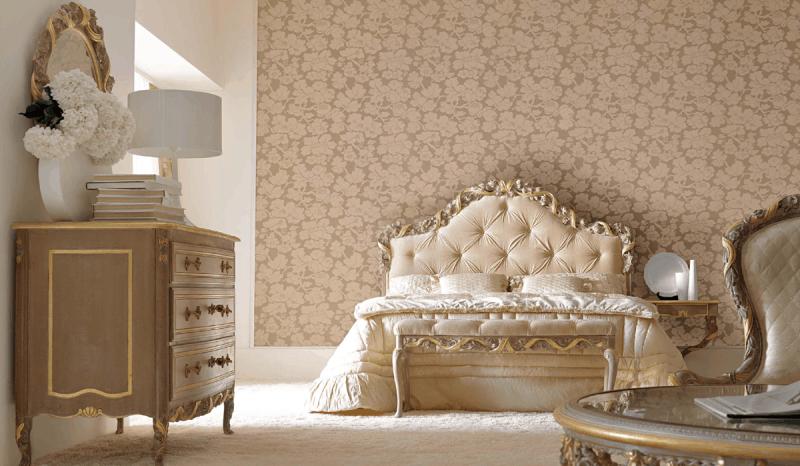 spálňa vo vintage štýl
