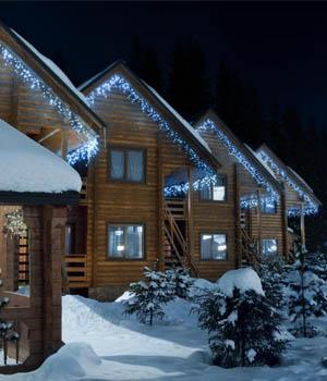 LED cencúle svetelná reťaz 10 ks - vonkajšie vianočné osvetlenie