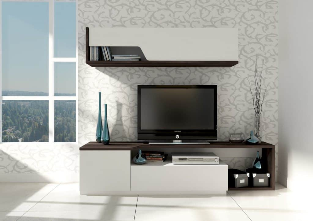 Jednoduché moderné obývacie steny