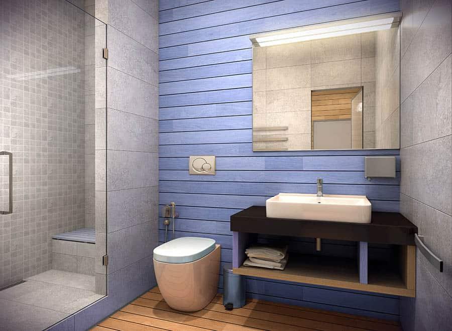 Kúpeľňa zariadená v country štýle