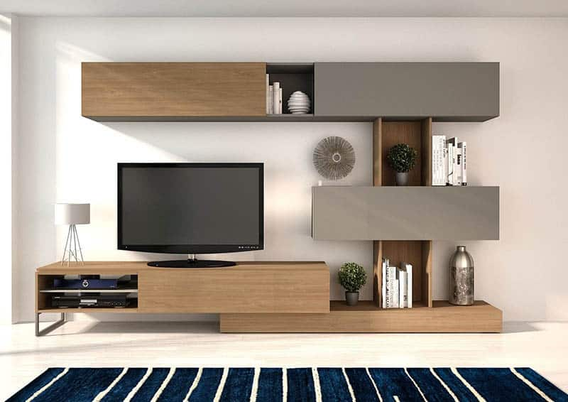 Drevené obývacie steny