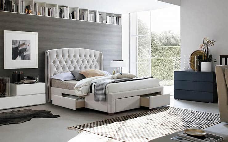 Praktická manželská posteľ Akana