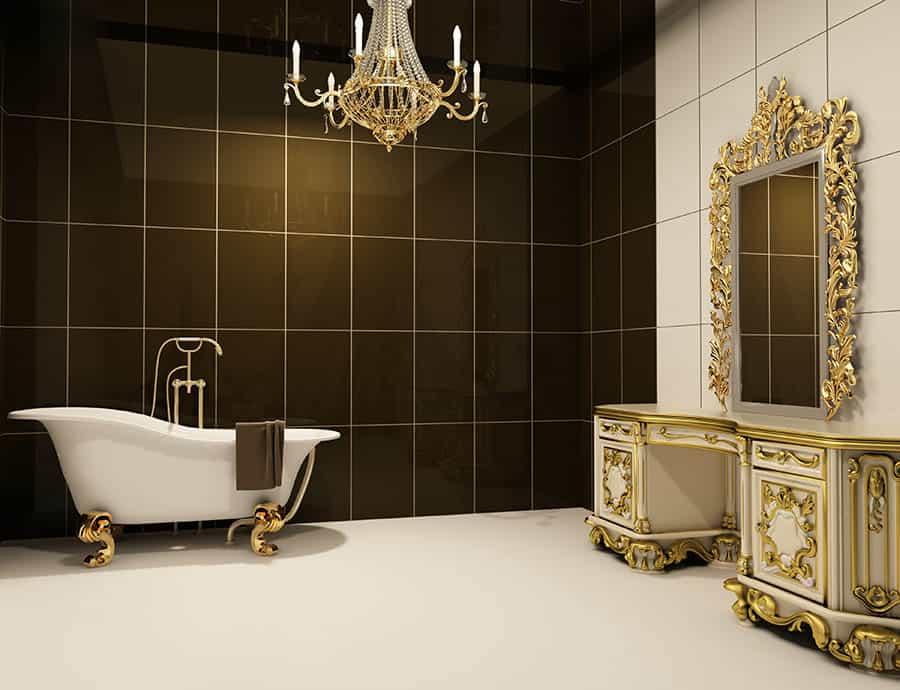 Rustikálne zrkadlo v kúpeľni