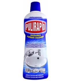 Čistiaci prostriedok Pulirapid - ako odstrániť vodný kameň