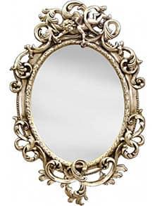 Rustikálne zrkadlo v striebornej farbe - ako si vybrať zrkadlo