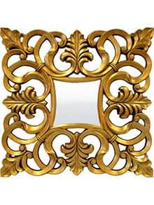 Rustikálne zrkadlo v zlatej farbe - ako si vybrať zrkadlo
