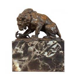 Bronzová socha lev - Art deco