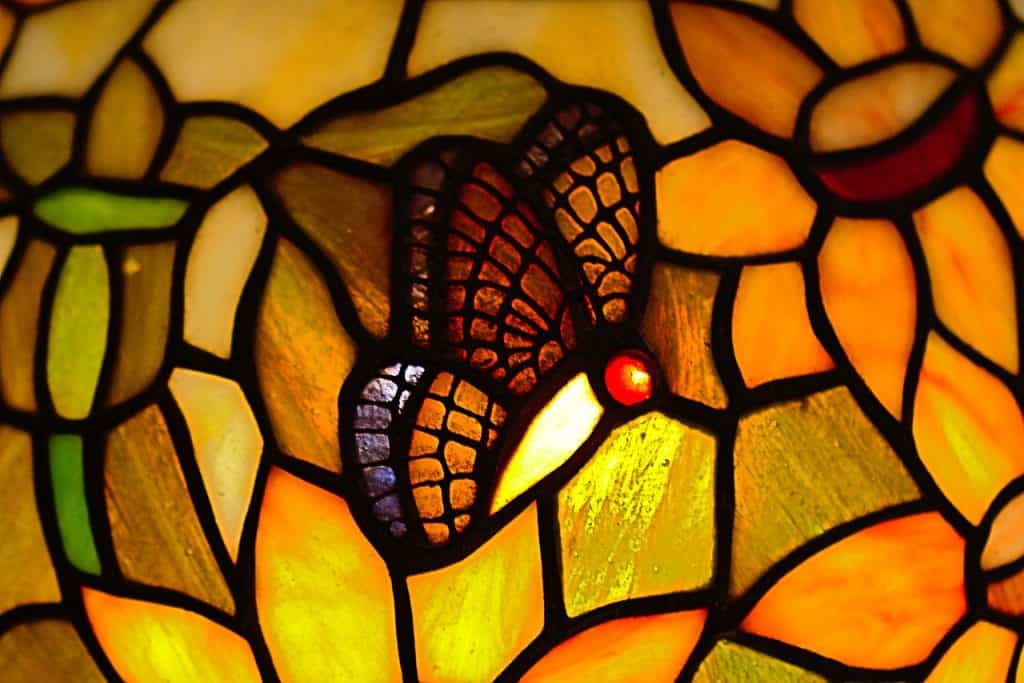 Tiffany lampy detail