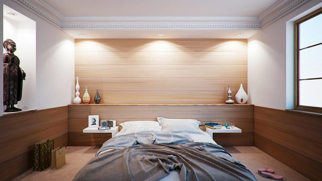 Biele steny - spálňa