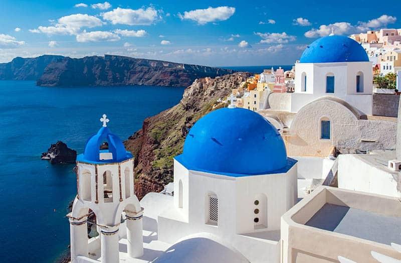 Santorini - modrá strecha