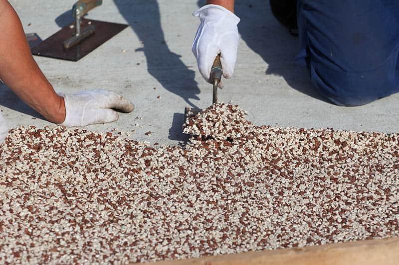 Kamenný koberec a jeho príprava