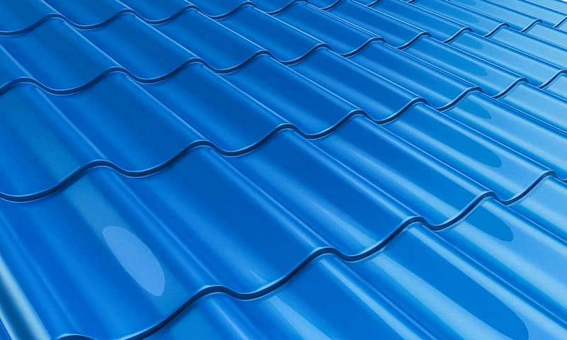 Modrá krytina - modrá strecha