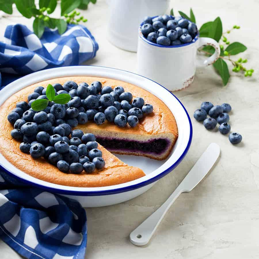 Čučoriedky a čučoriedkový koláč