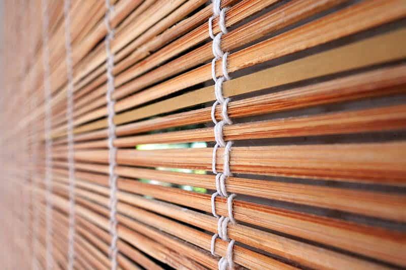 Bambusové rolety - detail