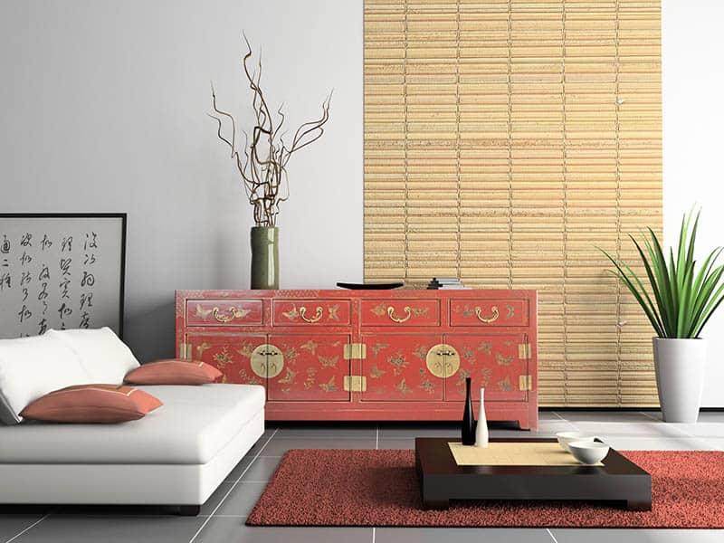 Bambusové rolety v interiéri