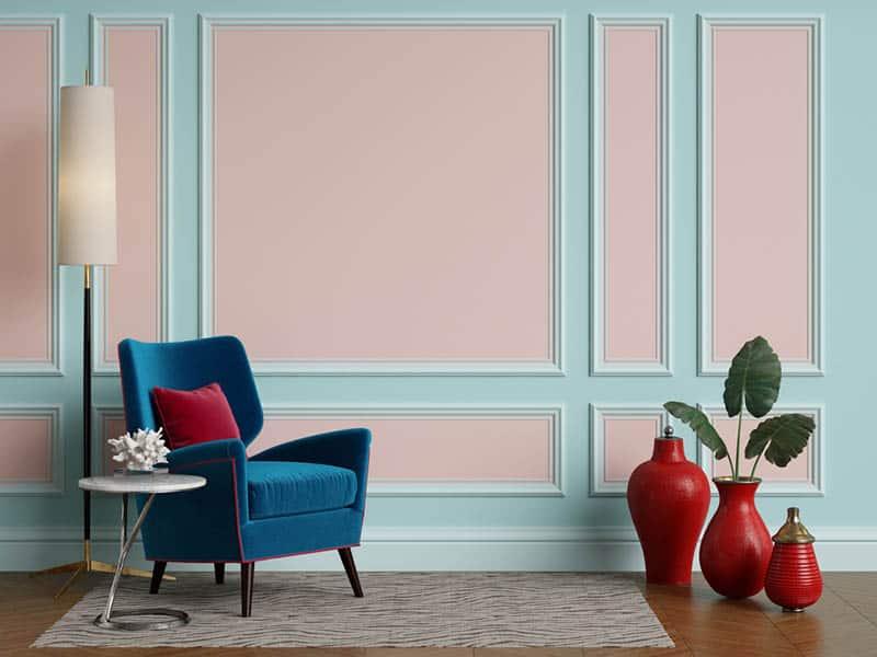 Ružová farba v interiéri