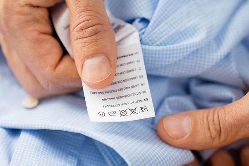 Symboly prania na oblečení