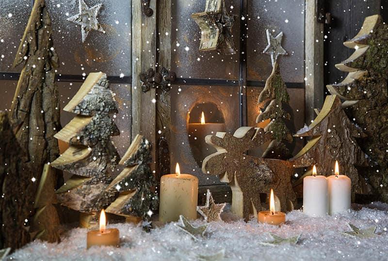 Drevené vianočné dekorácie