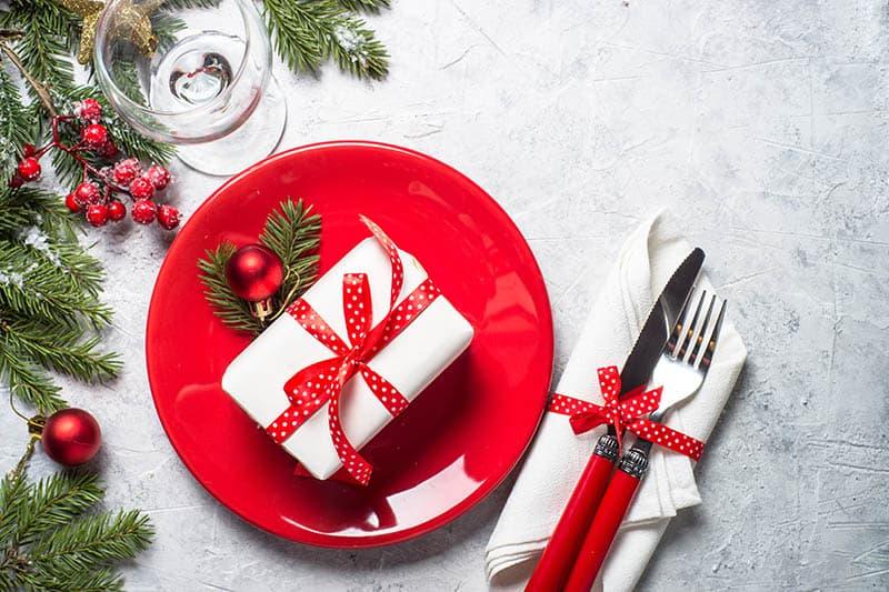 Vianočný stôl - prestrieranie