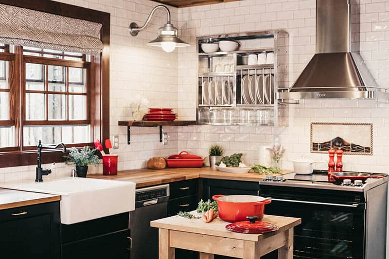 Moderná rustikálna kuchyňa