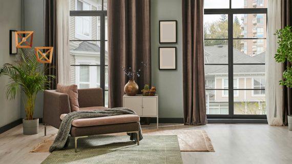 Moderný interiér v zelenej farbe
