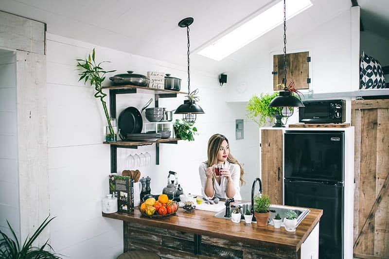 Atypická otvorená kuchyňa