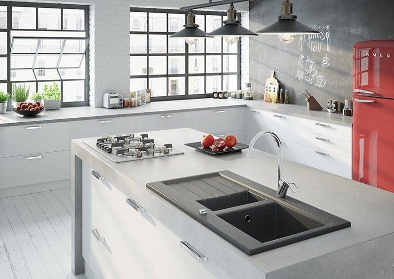 Granitové kuchynské drezy